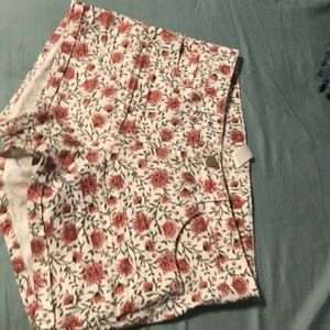 Floral jean shorts